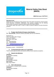 Material Safety Data Sheet (MSDS) - Diagenode
