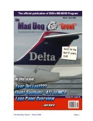"The Mad Dog ""Growl"" – March 2006 Page 1 - Delta Virtual Airlines"