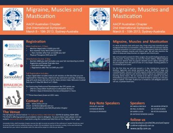 Migraine, Muscles and Mastication Migraine, Muscles and Mastication