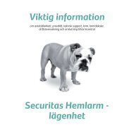 Viktig information Securitas Hemlarm - lägenhet - E-on