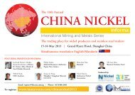 The trading place for nickel producers and stainless steel makers ...