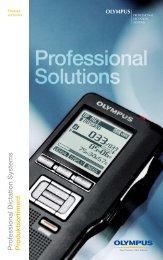 Olympus Professional Dictation Systems Produktsortiment ...