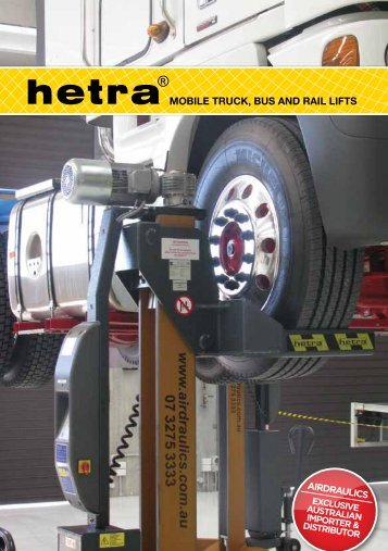 MOBILE TRUCK, BUS AND RAIL LIFTS - Airdraulics