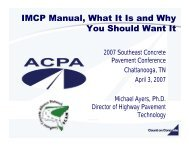 IMCP Manual, What It Is and Why You Should Want It - American ...