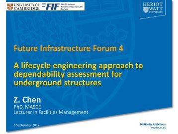 Zhen Chen - Future Infrastructure Forum