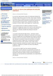 La sécurité intérieure : période 1997 - 2002 - Vie publique
