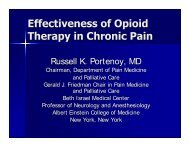 Russell K. Portenoy, MD - Department of Pain Medicine and ...