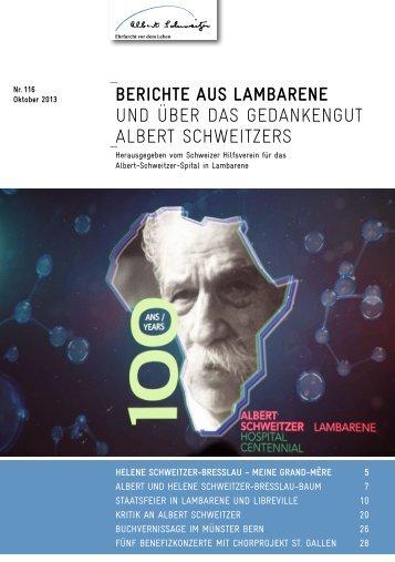 berichte 116 - Albert-schweitzer.ch