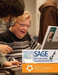 SAGE Summer 2013 - Prince George's Community College