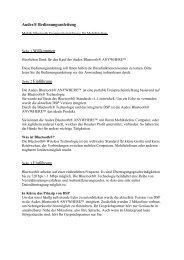 Audex® Bedienungsanleitung Seite 1 Willkommen Seite 2 ...