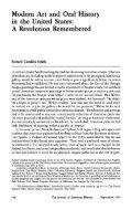 Modern Art and Oral History in the United States: A Revolution ... - Page 2