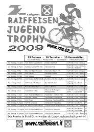 Startliste VSS MTB Jugendtrophy - Pichl Gsies