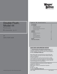 Double Flush 44 Torsion Standard Lift - Wayne Dalton