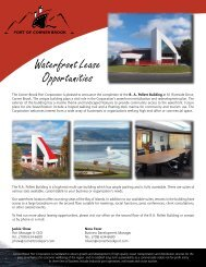 Waterfront Lease Opportunities - Corner Brook Port Corporation