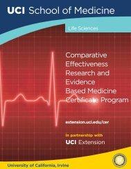 Comparative Effectiveness Brochure - UC Irvine Extension