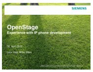 OpenStage—Experience with IP phone development