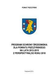 program ochrony środowiska dla powiatu pszczyńskiego na lata ...