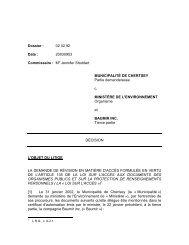 DÉCISION - Commission d'accès à l'information du Québec ...