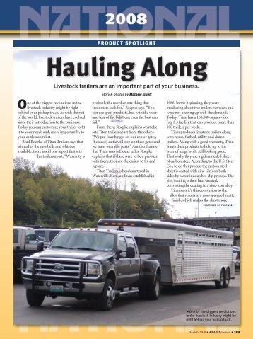 Hauling Along - Angus Journal