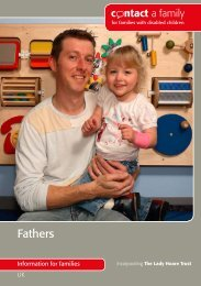 guide for fathers - Contact a Family