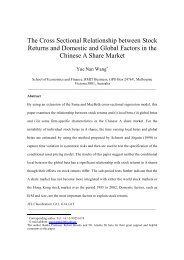 The Cross Sectional Relationship between Stock Returns and ...
