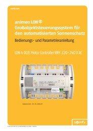 animeo LON® Großobjektsteuerungssystem für den ... - Somfy