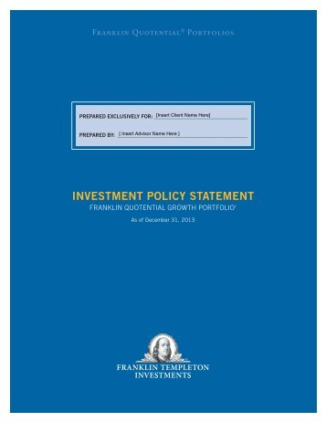 Policy Statement  Franklin Templeton Investments