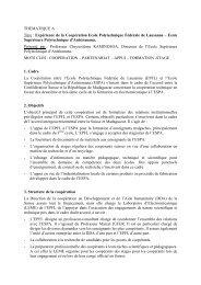 THEMATIQUE A Titre : Expérience de la Coopération Ecole ...