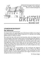 November 2006 - Katholische Kirchengemeinde St. Michael