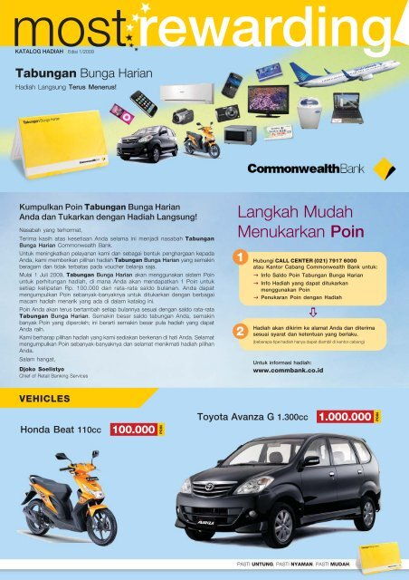 CommBank TBH KatalogHadiah Web.pmd - Commonwealth Bank