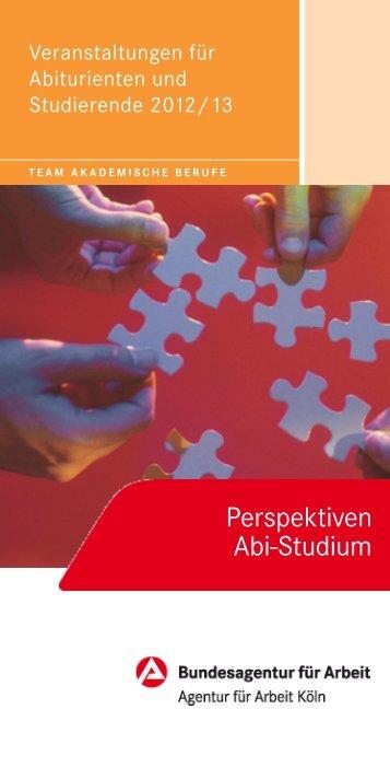 Veranstaltungen für Abiturienten und Studierende 2012/13
