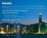 Asia-Pacific Global Employer Services Conference