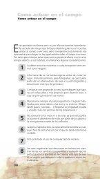 Como actuar en el campo - web dip Badajoz