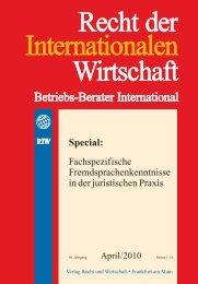 roemische seiten 1..1 - Recht der internationalen Wirtschaft