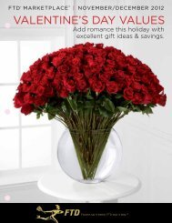 valenTine's Day values - FTD, Inc.