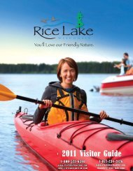 2011 Visitor Guide - Rice Lake, Wisconsin