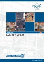 Bauwinden BABY, BOY, MINILIFT - Skippy Rent