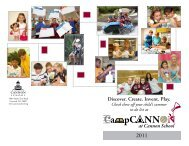 Discover. Create. Invent. Play. - Cannon School