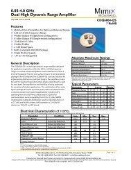 0.05-4.0 GHz Dual High Dynamic Range Amplifier - Richardson RFPD
