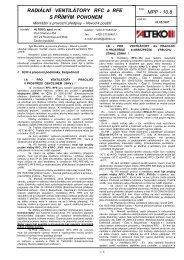 MPP - 10.8 RADIÁLNÍ VENTILÁTORY RFC a RFE S ... - ALTEKO
