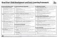 Head Start Child Development and Early Learning ... - Project Wild