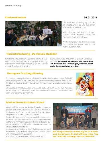 Gemeindezeitung Jänner 2011