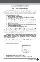 Preliminary Proxy Statement - A. Soriano Corporation