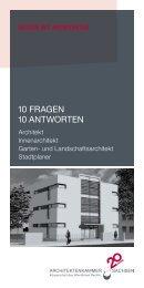 10 FRAGEN 10 ANTWORTEN - Architektenkammer Sachsen