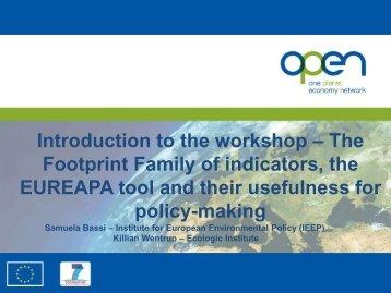 Presentation 2: Workshop Introduction - One Planet Economy Network