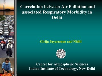 Correlation between Air Pollution and associated Respiratory ...