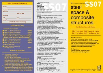 steel space & composite structures - The Hong Kong Institute of ...