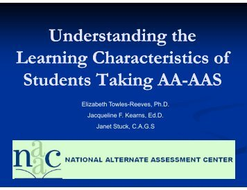 Understanding the Learning Characteristics of Students ... - NAAC