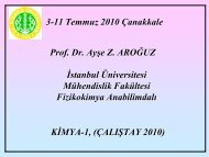 3-11 Temmuz 2010 Çanakkale Prof. Dr. Ayşe Z. AROĞUZ İstanbul ...