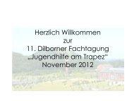 Fachtagung 2012 Vortrag Raida - Schloss Dilborn - Die Jugendhilfe